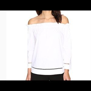 NWT Trina Turk Hanalei off shoulder peasant blouse